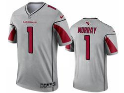 Mens 2021 Nfl Arizona Cardinals #1 Kyler Murray Gray Inverted Legend Nike Jersey