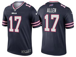 Mens 2021 Nfl Buffalo Bills #17 Josh Allen Blue Inverted Legend Nike Jersey