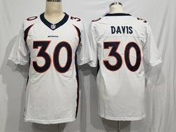 Mens Nfl Denver Broncos #30 Terrell Davis White Vapor Untouchable Limited Nike Jersey