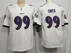 Mens Nfl Baltimore Ravens #99 Odafe Oweh White Vapor Untouchable Limited Nike Jersey