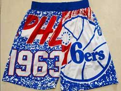 Mens Nba Philadelphia 76ers Blue Mitchell&ness Hardwood Classics Shorts