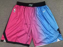 Nba Miami Heat  Blue&pink Gradient City Edition Pocket Nike Shorts