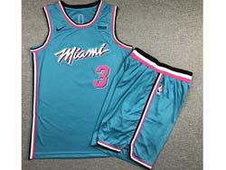Mens Nba Miami Heat #3 Dwyane Wade Sky Blue Suit Swingman Nike Jersey