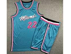 Mens Nba Miami Heat #22 Jimmy Butler Sky Blue Suit Swingman Nike Jersey