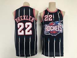 Mens Nba Houston Rockets #22 Clyde Drexler Dark Blue Mitchell&ness Hardwood Classics Swingman Jersey