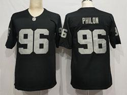 Mens Nfl Las Vegas Raiders #96 Darius Philon Black Vapor Untouchable Limited Nike Jersey