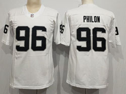 Mens Nfl Las Vegas Raiders #96 Darius Philon White Vapor Untouchable Limited Nike Jersey