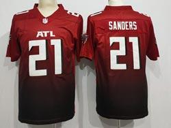 Mens Nfl Atlanta Falcons #21 Atlanta Falcons Red Gradient Vapor Untouchable Limited Nike Jersey