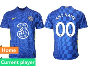 Mens 21-22 Soccer Chelsea Club Current Player Blue Home Thailand Short Sleeve Jersey