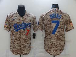 Mens Mlb Los Angeles Dodgers #7 Julio Urias Camo Cool Base Nike Jersey