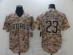 Mens Mlb San Diego Padres #23 Fernando Tatis Jr. Camo Cool Base Nike Jersey