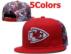 Mens Nfl Kansas City Chiefs Falt Snapback Adjustable Hats 5 Colors
