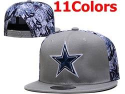Mens Nfl Dallas Cowboys Falt Snapback Adjustable Hats 11 Colors