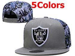 Mens Nfl Las Vegas Raiders Falt Snapback Adjustable Hats 5 Colors