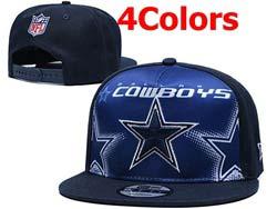 Mens Nfl Dallas Cowboys Falt Snapback Adjustable Hats 4 Colors
