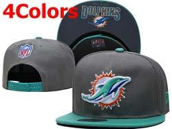 Mens Nfl Miami Dolphins Falt Snapback Adjustable Hats 4 Colors