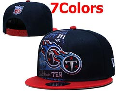 Mens Nfl Tennessee Titans Falt Snapback Adjustable Hats 7 Colors