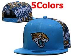 Mens Nfl Jacksonville Jaguars Falt Snapback Adjustable Hats 5 Colors