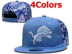 Mens Nfl Detroit Lions Falt Snapback Adjustable Hats 4 Colors