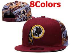 Mens Nfl Washington Redskins Falt Snapback Adjustable Hats 8 Colors
