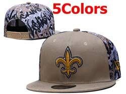 Mens Nfl New Orleans Saints Falt Snapback Adjustable Hats 5 Colors