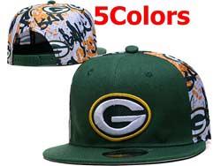 Mens Nfl Green Bay Packers Falt Snapback Adjustable Hats 5 Colors