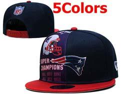 Mens Nfl New England Patriots Falt Snapback Adjustable Hats 5 Colors
