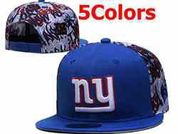 Mens Nfl New York Giants Falt Snapback Adjustable Hats 5 Colors