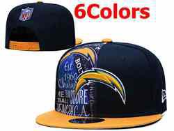Mens Nfl Los Angeles Chargers Falt Snapback Adjustable Hats 6 Colors