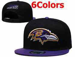 Mens Nfl Baltimore Ravens Falt Snapback Adjustable Hats 6 Colors