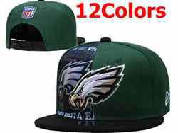 Mens Nfl Philadelphia Eagles Falt Snapback Adjustable Hats 12 Colors