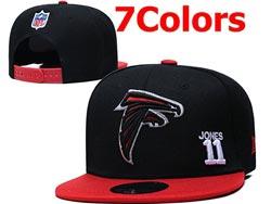 Mens Nfl Atlanta Falcons Falt Snapback Adjustable Hats 7 Colors