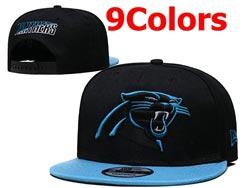 Mens Nfl Carolina Panthers Falt Snapback Adjustable Hats 9 Colors