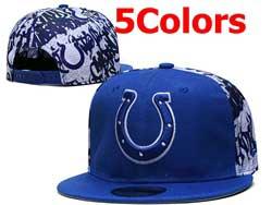Mens Nfl Indianapolis Colts Falt Snapback Adjustable Hats 5 Colors