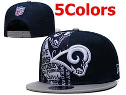 Mens Nfl Los Angeles Rams Flat Snapback Adjustable Hats 5 Colors