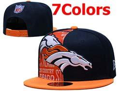 Mens Nfl Denver Broncos Flat Snapback Adjustable Hats 7 Colors