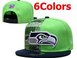 Mens Nfl Seattle Seahawks Falt Snapback Adjustable Hats 6 Colors