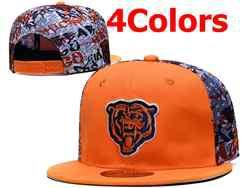 Mens Nfl Chicago Bears Falt Snapback Adjustable Hats 4 Colors