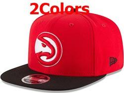 Mens Nba Atlanta Hawks Snapback Adjustable Flat Hats 2 Colors