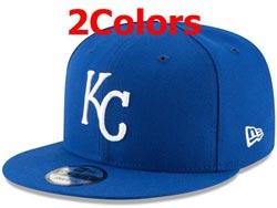 Mens Mlb Kansas City Royals Falt Snapback Adjustable Hats 2 Colors