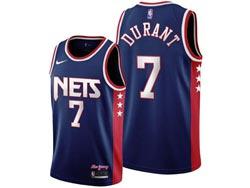 Mens 21-22 Nba Brooklyn Nets #7 Kevin Durant Blue 75th City Edition Throwback Swingman Nike Jersey