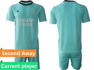 Mens Kids 21-22 Soccer Liverpool Club Current Player Second Away Short Sleeve Suit Jersey 2colors