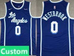 Mens Nba Los Angeles Lakers Custom Made Blue Blue 2021-22 Classics Edition Swingman Nike Jersey