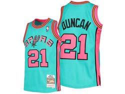 Mens Nba San Antonio Spurs Spurs #21 Tim Duncan Green Mitchell&ness Hardwood Classics Swingman Jersey