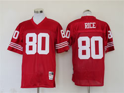 Mens Nfl San Francisco 49ers #80 Jerry Rice Red Throwback Jersey