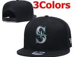 Mens Mlb Seattle Mariners Falt Snapback Adjustable Hats 3 Colors