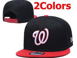 Mens Mlb Washington Nationals Falt Snapback Adjustable Hats 2 Colors