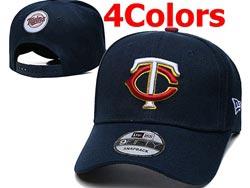 Mens Mlb Minnesota Twins Falt Snapback Adjustable Hats 4 Colors