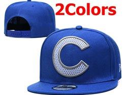 Mens Mlb Chicago Cubs Falt Snapback Adjustable Hats 2 Colors