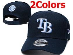 Mens Mlb Tampa Bay Rays Falt Snapback Adjustable Hats 2 Colors
